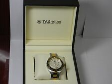 TAG HEUER AQUARACER WAY1120 TWO TONE MENS WRIST WATCH