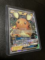 Pokemon Dedenne GX Ultra Rare 57/214 S&M Unbroken Bonds NM Near Mint