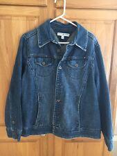 Tommy Hilfiger Womens Size 1X Blue Denim Jean Jacket 100% Cotton