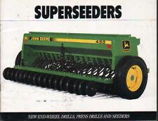 """John Deere """"superseeders"""" TRAPANI. premere esercitazioni e DEFLETTORI OPUSCOLO illustrativo"""