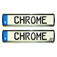 PEUGEOT 2X CHROME LOOK LICENSE PLATE HOLDER NUMBER TUNING