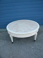 French Round Distressed Painted Coffee Table 6479