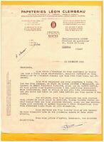 """NANTES (44) USINE de CARADEC-JOSSELIN 56 / PAPETERIES """"Léon CLERGEAU"""" en 1949"""