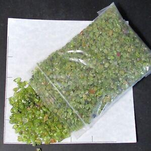 PERIDOT CHIPS semi-tumbled 4-7mm 1 lb bulk stones Forsterite Olivine