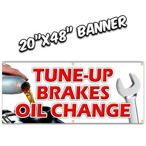 TUNE UPS OIL CHANGE BRAKES BANNER  muffler alignment ac shocks strut sale parts