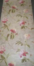 Pink Peonies with Green Stems on Metallic Silver Faux Wallpaper by York GN2425