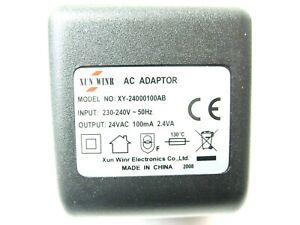 100ma 24v Socket AC-AC (AC Output) Power Adaptor/Supply/Charger (0.1a 2.4va)
