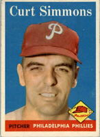 1958 Topps #404 Curt Simmons - EX