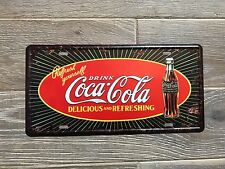 Classique Coca Cola vintage rétro usa style Coke metal sign 30x15cm plaque d'immatriculation