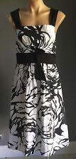 As New Rare Black & White DOLINA EXCLUSIVE Empire Waist Dress Size16