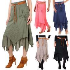 Hippie wadenlange Damenröcke für die Freizeit