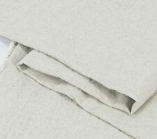 100% Organic Linen - Natural Flat Linen Fabric Thick Plain Flax Yardage