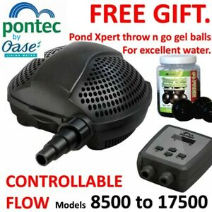 Pontec by OASE controllable variable Koi pond, filter, waterfall pump. vari flow