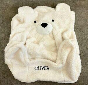 "POTTERY BARN KIDS Polar Bear Anywhere Chair Slipcover Faux Fur ""Oliver""  NWOT"