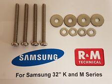 SAMSUNG UE32M5600 UE32M5500 UE32M5520 WALL MOUNT SCREWS FOR VESA BRACKETS NEW