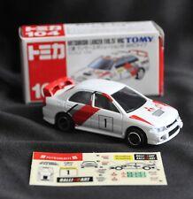 JAPAN TOMY TOMICA NO 104 MITSUBISHI LANCER EVO IV WRC 1/59 DIECAST RALLY TOY CAR