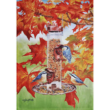 "FALL NUTHATCHES 28"" X 40"" PORCH FLAG 10-1754-41 RAIN OR SHINE FALL SEASONAL"