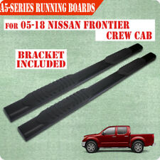 "Fit 05-18 NISSAN Frontier Crew Cab 5"" Running Board Nerf Bar Side Step BLK A"