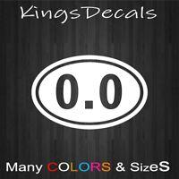 "0.0 Oval ""I DONT RUN"" Marathon Decal Sticker Anti Running Vinyl Funny Bumper W"