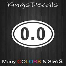 "0.0 Oval ""I DONT RUN"" Marathon Decal Sticker Running Vinyl Funny Bumper"