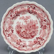 "William Adams Indian Warriors Red Transferware 9 1/4"" Plate Circa 1830s - 1840s"