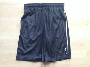 Herren Reebok Lauf Trainingshose Short Fitness PlayDry small schwarz Neu USA