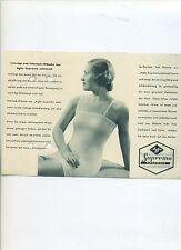 Reklame Agfa Suprema edelmatt 30er Prospekt Unterwäsche Interlock Charmeuse