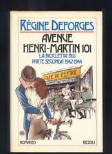 Régine Deforges - Avenue Henry-Martin 101, Rizzoli 1986 copertina G.Crepax  R