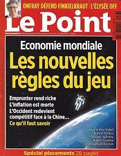 LE POINT N°2276 21 AVRIL 2016  LES NOUVELLES LOIS DE L'ECONOMIE/ ONFRAY/ ARAKI