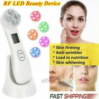 Facial Beauty Skin Tightening Machine RF 5 in 1 LED Light Photon Therapy Device