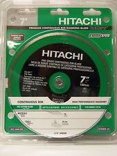 "Hitachi 7"" Wet Cut Continuous Rim Diamond Saw Blade for Tile& Stone NEW"