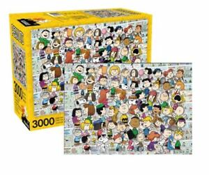 Peanuts Charlie Brown, Snoopy, Linus, Lucy Cast 3,000 Piece Puzzle