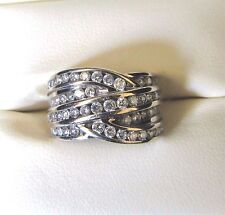 Diamond 14 K White Gold 1.25 C Ring~The Perfect Gift~Size 5~Drop Dead Gorgeous