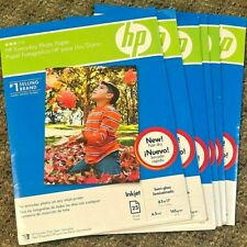 "6 NEW HP Everyday Photo Paper Semi-Gloss 8.5""x11"" - 150 Sheets Ink Jet - Q5498A"