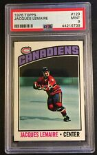 1976 JACQUES LEMAIRE #129 PSA 9 CANADIENS HOF CENTERED POP 13  NO PSA 10'S