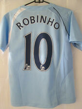 Manchester City Signed Robinho Home Football Shirt by 7 players /11529