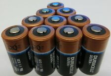 10 Duracell Ultra DL123A, CR123A 123 3V Batteries Fresh Dated 2021 or 2022