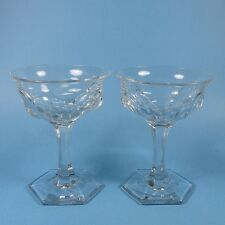 Krys-Tol Krystol Chippendale Champagne Glasses 2 Jefferson Central Glass Works