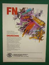 6/1985 PUB FN HERSTAL DEFENSE SECURITE ENGINEERING / AERITALIA ORIGINAL ADVERT