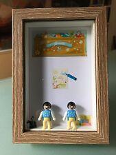 Jumeaux Cadre / Création originale avec Playmobil / Cadeau unique / Home made