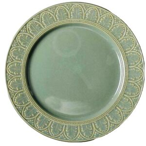 PTS Coventry PARTHENON GREEN Chop Plate Round Pattern Stoneware