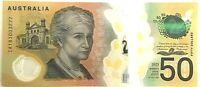2018 $50.00 banknote, General second last Prefix IA18 consecutive CFU