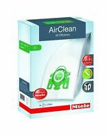 Miele 10123230 AirClean 3D Efficiency Dust Bag Type U 4 Count 2 Air Filters New