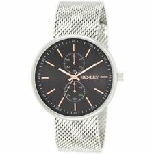 Henley Mens  Fashion Quartz Watch With BLACK Dial Analogue NEW H02154.13