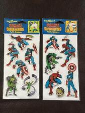 1987 MARVEL COMICS SUPER HEROES SET 2 PUFFY STICKERS SPIDER-MAN CAPT. AMERICA