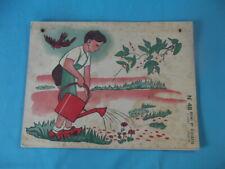 Ancienne Affiche scolaire Remi et Colette le jardin botanique la toupie