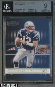 2001 Playoff Preferred Tom Brady New England Patriots BGS 9 w/ 10