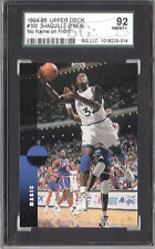 Shaquille O'Neal 1994 95 Upper Deck No Name Printing Error Scuba Back Magic