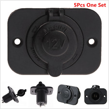 5x Car Motor Boat Waterproof Cigarette Lighter Socket USB Power Plug Outlet 12V