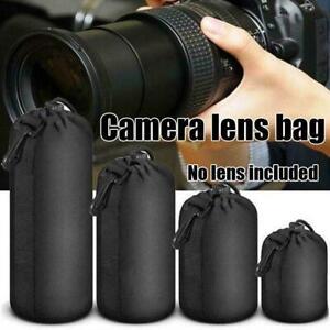 4Pcs Waterproof Neoprene DSLR Camera Soft Lens Carry Bags - L M Pouch Case A6N1